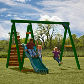 Pine Bluff Wood Complete Play Set with Slide and Tuff Wood