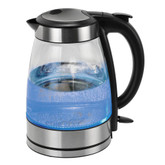 Black and Stainless Steel Glass Water Kettle