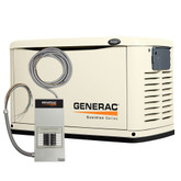 8,000-Watt Automatic Standby Generator with 50-Amp Pre-Wired 10 Circuit Transfer Switch