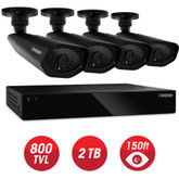 Defender - Home Security System - 4CH, WS/HDMI, 2TB + 4 x WS 800TVL, 48IR LED