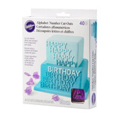 Wilton Alphabet Cookie Cutters box