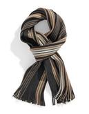 Black Brown 1826 Plaid Blanket Scarf - Grey