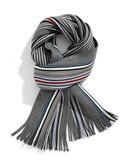 Black Brown 1826 Reversible Stripe Scarf - Blue