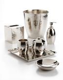 Glucksteinhome Clara Antiquity Hammered Metal Tissue Box - Silver