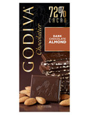 Godiva 72% Cacao Dark Chocolate with Almonds - Chocolate