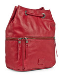 The Sak Camino Drawstring Convertible Backpack - Red