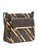 Anne Klein Leo Lizard II Crossbody - Coco/Gold/Bark