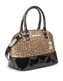 Anne Klein Structured Dome Satchel - Camel/Black