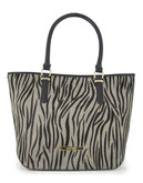 Anne Klein Queen Of The Jungle Medium Tote - Zebra