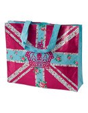 Royal Albert Bright Union Jack Plasticised Shopping Bag - Multi-coloured