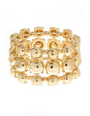 Expression Multi Row Stretch Bracelet - gold