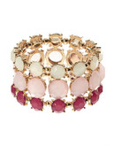 Expression Faceted Stone Stretch Bracelet - red