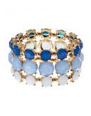 Expression Faceted Stone Stretch Bracelet - blue
