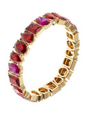 Anne Klein Faux Stone Stretch Bracelet - Red