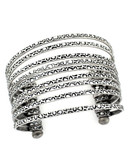Bcbgeneration Silver Stacked Cuff - Silver
