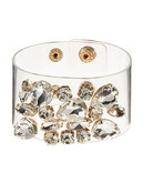 424 Fifth Crystal Cluster Clear Cuff Bracelet - Crystal