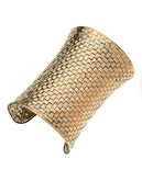 Guess Basketweave Cuff Bracelet - Gold
