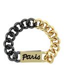 Bcbgeneration Moto Chic Metal Cuff Bracelet - Gold