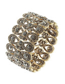 R.J. Graziano Embellished Loop Stretch Bracelet - Brass