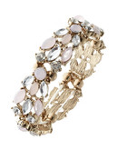Expression Mixed Stone Stretch Bracelet - Pink