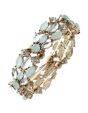 Expression Mixed Stone Stretch Bracelet - Green