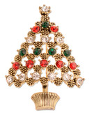 Jones New York Boxed Christmas Tree Pin - Assorted