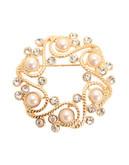 Jones New York Boxed Pearl Wreath Pin - Gold/Pearl