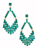 A.B.S. By Allen Schwartz Baguette Chandelier Earrings - Green