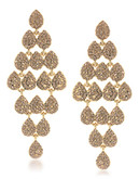 Carolee Mimosa Chandelier Pierced Earrings Gold Tone Crystal Chandelier Earring - Gold