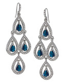 Carolee Simply Blue Pave Crystal Chandelier - Blue