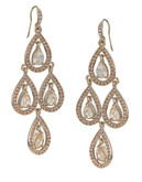 Carolee Topaz Crystal Chandelier Earrings - Gold