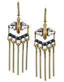 Sam Edelman Metal Fringe Chandelier Earring - GOLD
