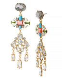 Haskell Purple Label Metal Acrylic Chandelier Earring - Multi