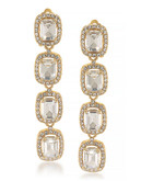 Carolee Hera Gold Linear Clip On Earrings Gold Tone Crystal Clip On Earring - Gold