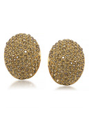 Carolee Athena Gold Nugget Clip On Earrings Gold Tone Crystal Clip On Earring - Gold