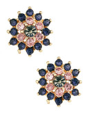 R.J. Graziano Cluster Clip On Earrings - Montana Rose