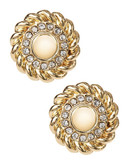 Jones New York Clip On Button Stud Earrings - Yellow