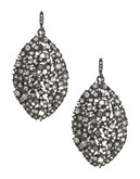 A.B.S. By Allen Schwartz Navette Cluster Drop Earrings - Silver