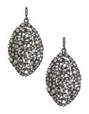 A.B.S. By Allen Schwartz Navette Cluster Drop Earrings - Silver