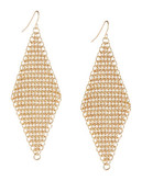 A.B.S. By Allen Schwartz Mesh Drop Earrings - Gold