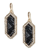 A.B.S. By Allen Schwartz Snake Print Inlay Drop Earrings - Gold