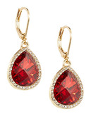 Anne Klein Dangling Faux Gem Earrings - Red