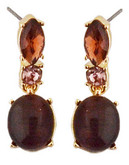 Anne Klein Metal Crystal Drop Earring - Purple