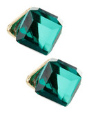 A.B.S. By Allen Schwartz Crystal Cube Earrings - Green