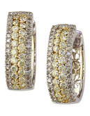 Effy 14k White and Yellow Gold Diamond Yellow Diamond  Earrings - Diamond