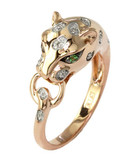Effy 14K Rose Gold, 0.07ct Diamond And Tsavorite Ring - Rose Gold - 7