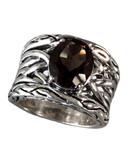 Effy Sterling Silver Smokey Quartz Weave Ring - Smokey Quartz