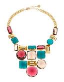 Trina Turk Faceted Stone Bib Necklace - Multi