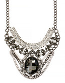Haskell Purple Label Metal Acrylic Statement Necklace - Assorted