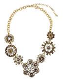 Cezanne Beige Flower Frontal Necklace - BEIGE